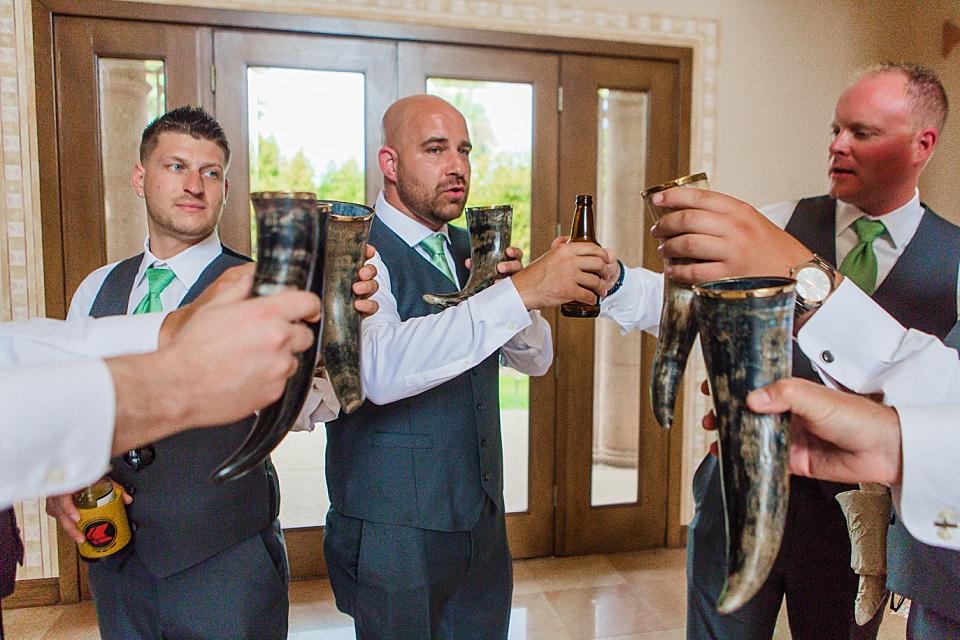 groomsmen drinking before the wedding la jolla venues