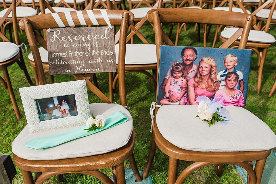 deceased parent wedding memorial