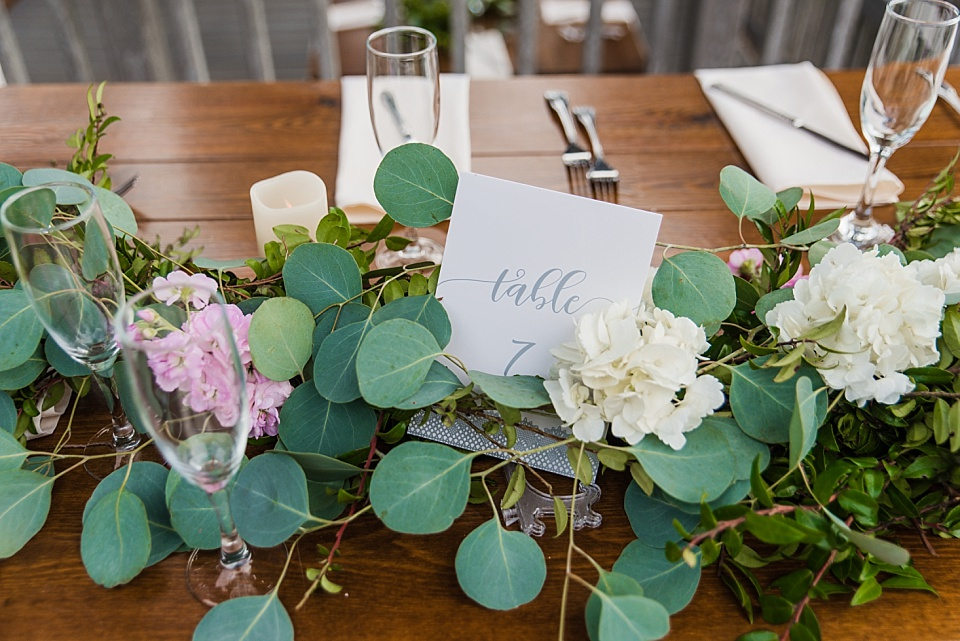 rustic wedding table number idea