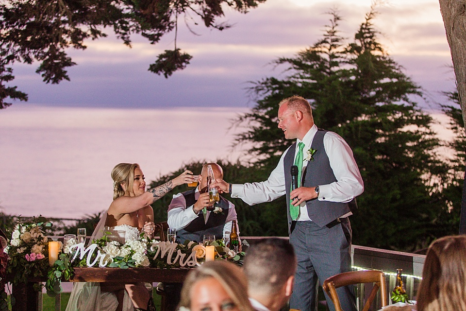 reception toast best man bride and groom best outdoor wedding venues san diego