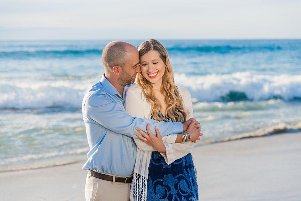 romantic couple beach portrait la jolla engagement photos