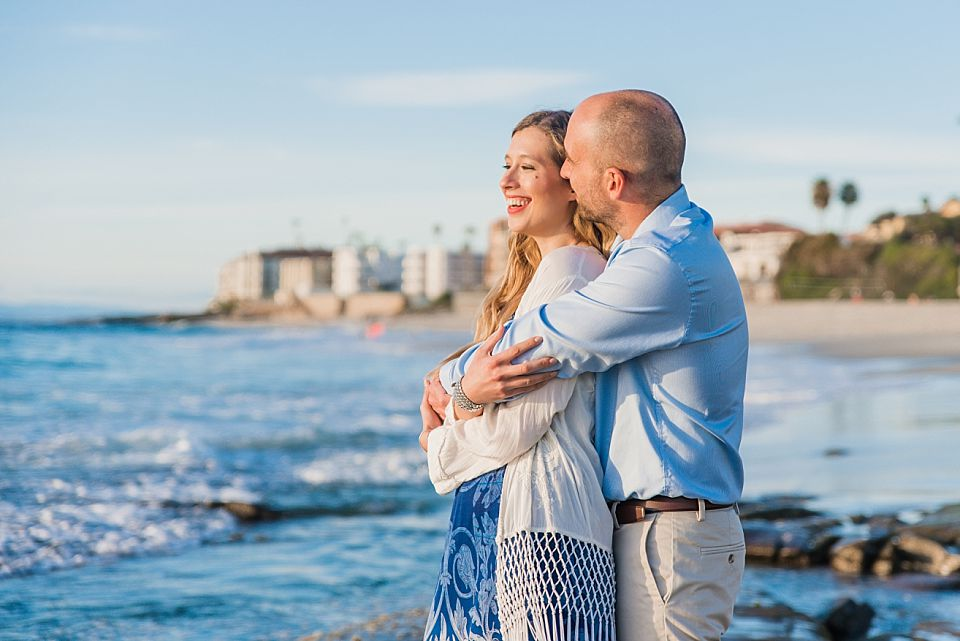 romantic couple portrait san diego engagement posing ideas