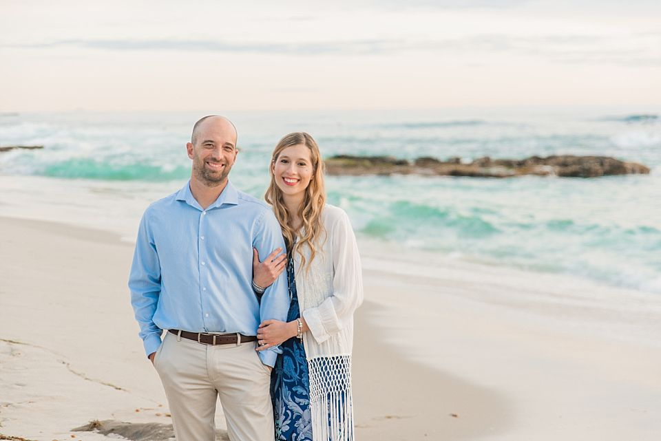couple beach portrait la jolla engagement session
