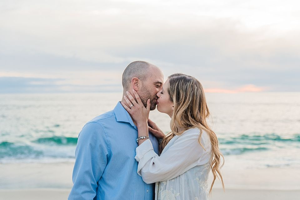 romantic couple beach portrait san diego engagement photo locations