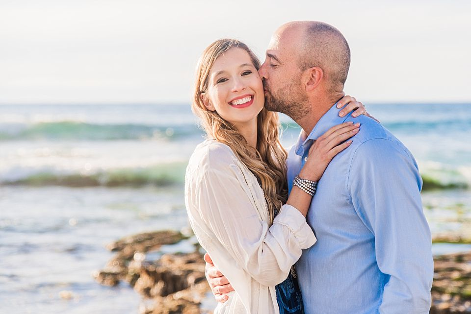 engagement photoshoot at windandsea beach