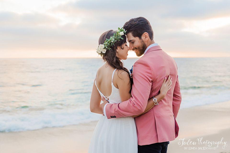 romantic beach portrait san diego elopement