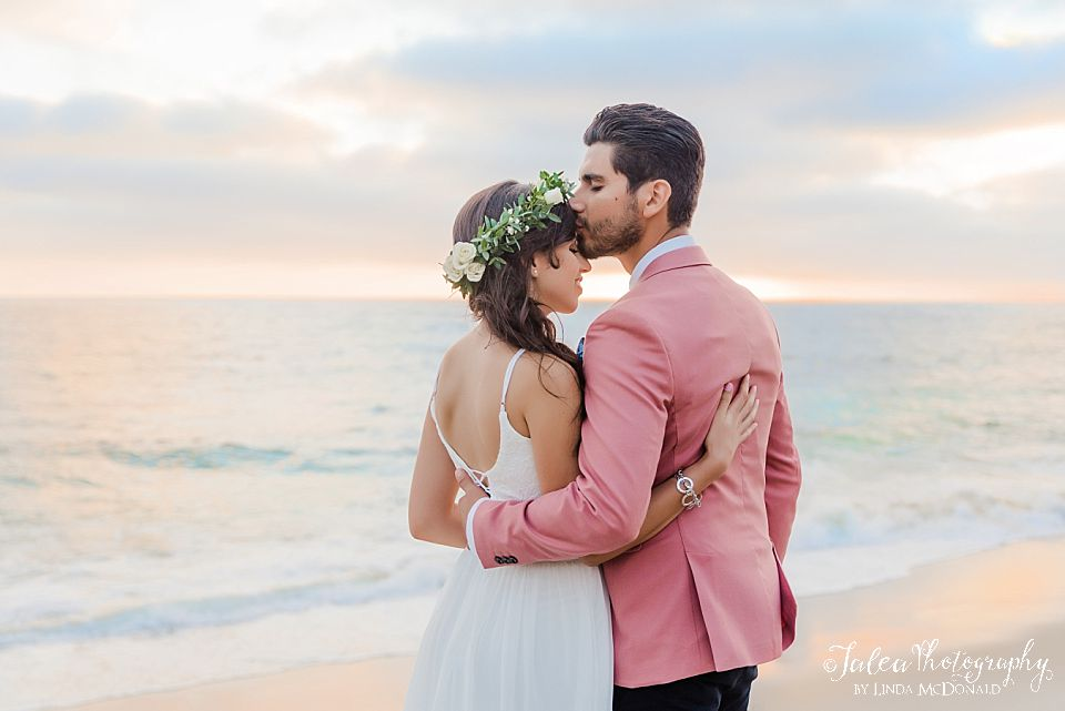 romantic couple portrait san diego beach weddings