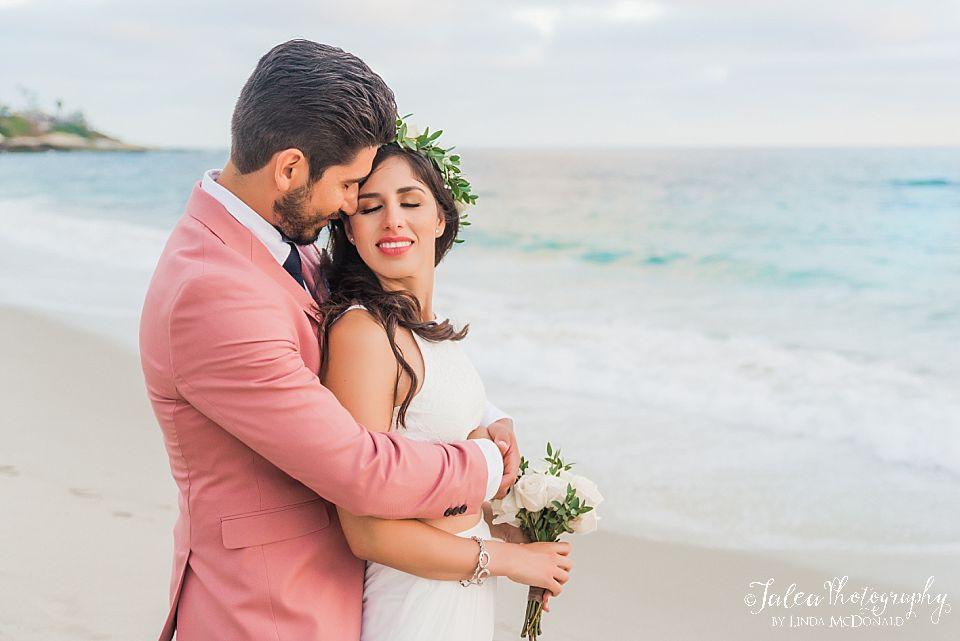 intimate wedding portrait on the beach La Jolla California