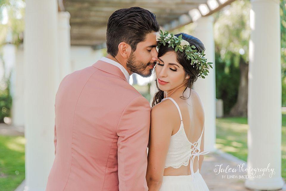romantic couple portrait Presidio Park San Diego elopement