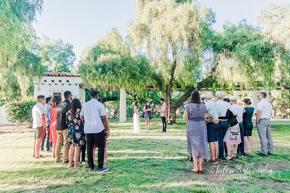 intimate park small elopement wedding San Diego Jalea Photography