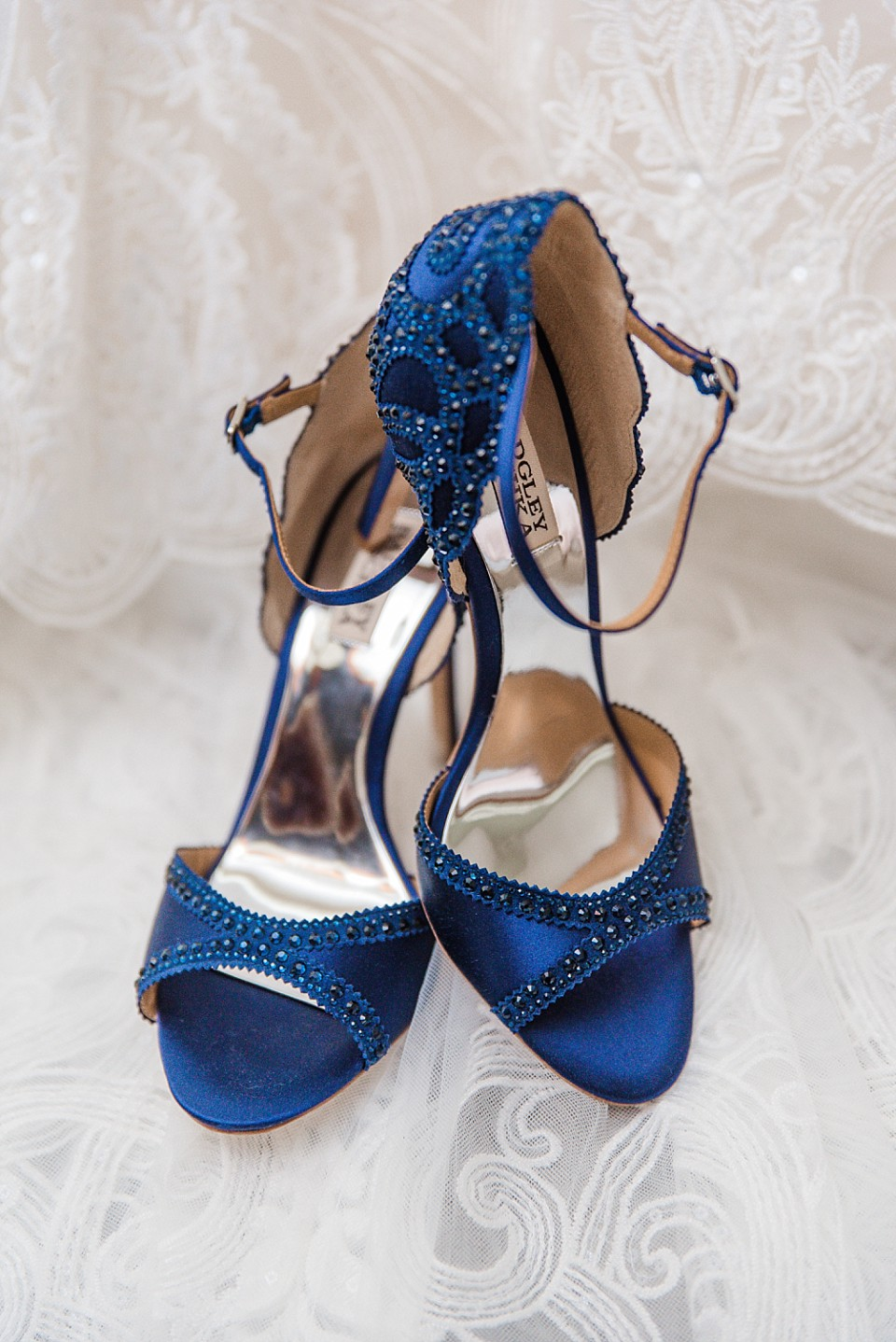 elegant navy blue wedding shoes San Diego photographer