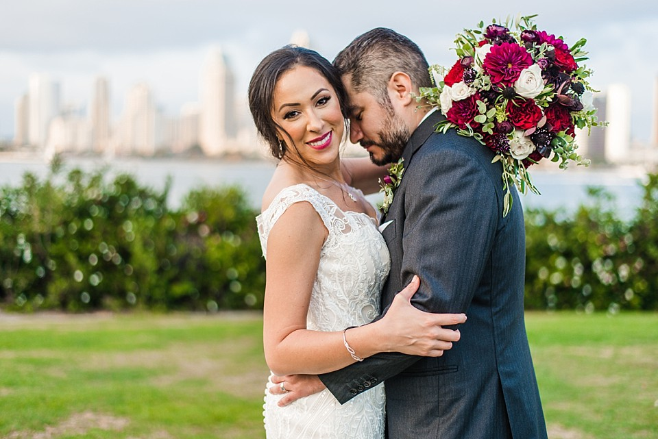 couple romantic portrait san diego wedding photographer