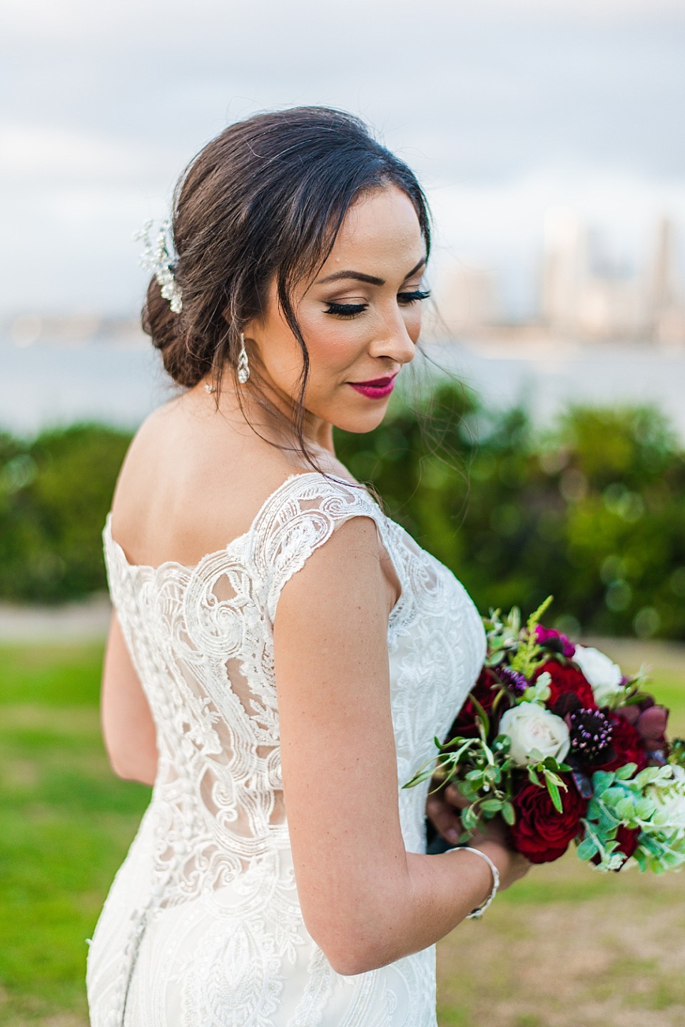 stunning bridal portrait San Diego wedding photographer