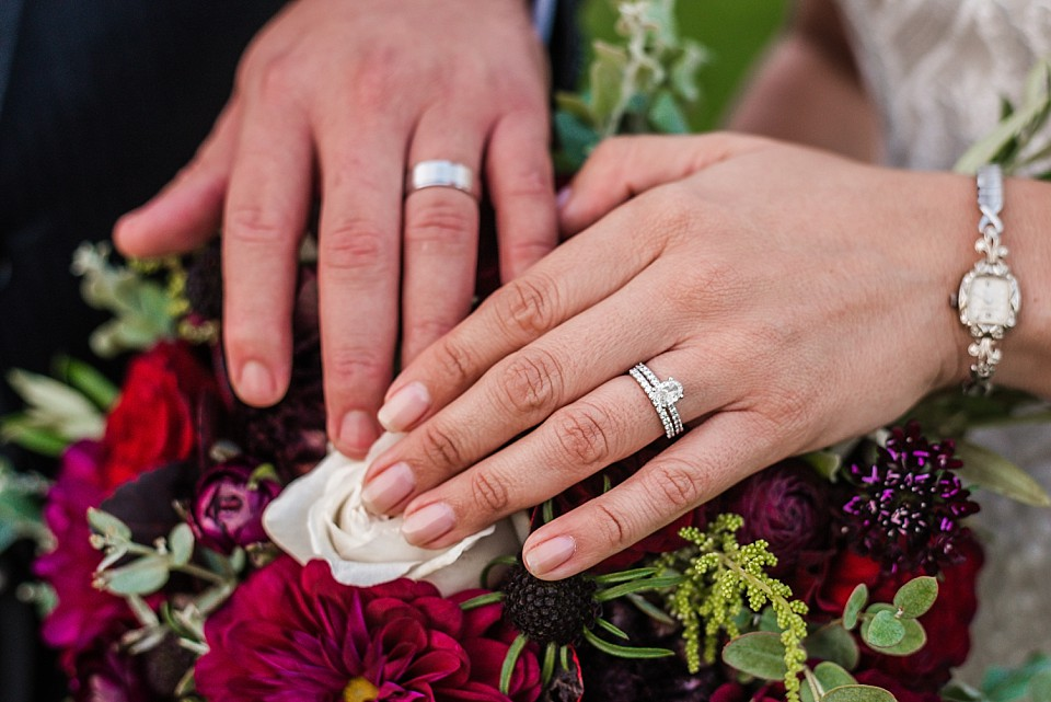 rings bouquet intimate wedding ideas