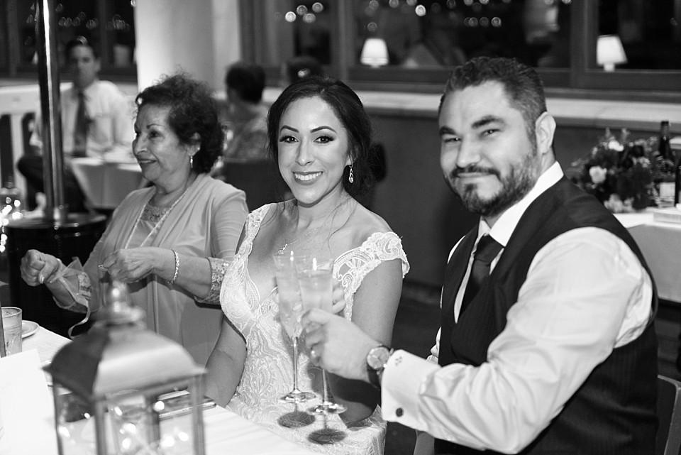 bride groom toasting Coronado Italian restaurant Il Fornaio