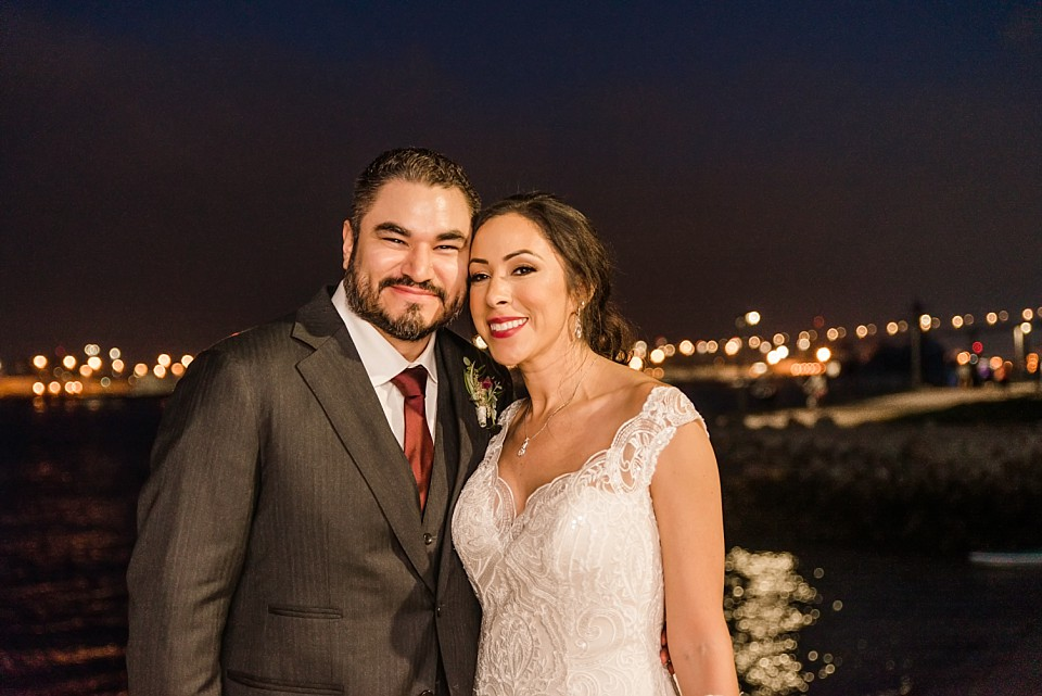 nighttime portrait wedding couple coronado bridge San Diego photographer